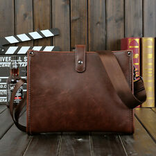 Casual Men's Leather Crossbody Messenger Bags Shoulder Bag Satchel Handbag