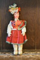 Fabulous VINTAGE Costume Cloth Doll Wearing Traditional Dress - 21cm Tall