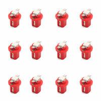 12Pcs Bombilla 12V B8.5 1-5050-SMD LED Rojo Coche Tablero Interior