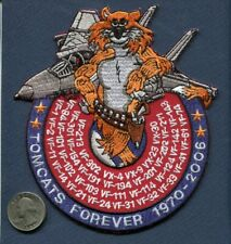 "6"" F-14 TOMCATS FOREVER 1970 - 2006 US Navy All VF Tomcat Squadron Listed Patch"