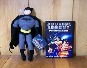 """New Toy Works 10"""" Batman Plush with """"Justice League: Paradise Lost"""" DVD Movie"""