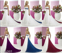 New stock White Wedding Dresses Bridal Prom Gown Stock Size 6 8 10 12 14 16 18
