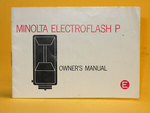 Original(!) Minolta Electroflash P Owner´s Manual - in English!