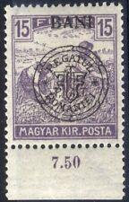 Romania Hungary 1919 CLUJ HARVESTER 15 BANI  GENUINE  with margin MNH