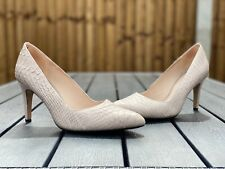 Clarks Narrative Size EU 39.5, Nude Textured Snake Effect Classy Court Shoes