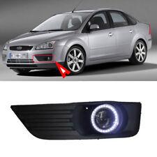 Fog Lights Kit + COB Angel Eye Bumper Cover Lens For Ford Focus 2005-2006