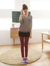 Japan Candy Acid Wash Fake JEans Skinny Stretch Pull Over Pants! Coral