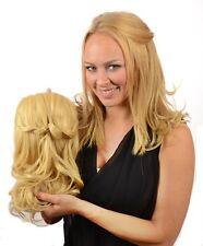 Plaited Braid Curly Hair Extensions Hairpiece | TiHaira Braid Clip On Half Wig