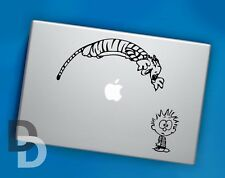 Calvin and Hobbes Jump Macbook decal / Laptop sticker / Cartoon stencil decal