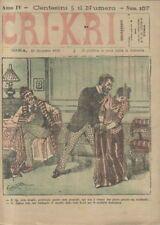 CRI KRI anno IV n.157 - 28 dicembre 1890 giornale umoristico ILLUSTRATO A COLORI