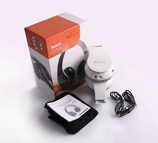 White Bluetooth HEADPHONES with FM/SD Card Read for all Tablet/Cell Phone/PC