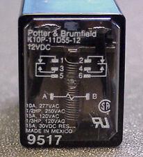 POTTER & BRUMFIELD DPDT MINIATURE DC 12V RELAY  K10P-11D55-12 n american   loc22