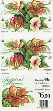 TROPICAL FLOWERS STAMP BOOKLET -- USA #3313B 1999 33 CENT 1999 BOOKLET