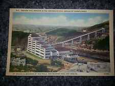 St Nicholas coal breaker postcard near mahanoy city and shenandoah pa