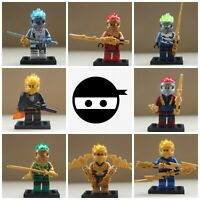 Ninjago Toy Boys Ninja Mini Figures X 8 Kai,Cole,Lloyd,Nya,Jay & Zane fit lego G