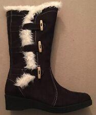 Nine West Diva Girl Black Microfiber Boots 4.5M Youth 848698081402