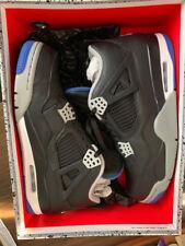 Nike Men's Air Jordan 4 Retro Sneakers - Size 11 US, Black/Royal