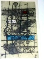 ARTIST SIGNED ETCHING OF ABSTRACT ART
