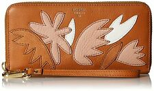 FOSSIL® Sydney, All Leather Large Zip Around Clutch Wallet- Floral