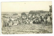 RPPC PA Farming Farmers Muncy Area Lycoming? Harvest Rural Real Photo Postcard