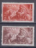 ESPAÑA (1961) NUEVOS SIN FIJASELLOS MNH SPAIN - EDIFIL 1326/27 AÑO DEL REGUGIADO