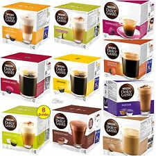 NESCAFE DOLCE GUSTO COFFEE CAPSULES PODS BEST SELLING RANGE 10 FLAVORS 8-16 P/P