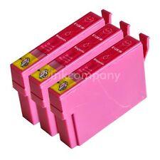 3 kompatible Tintenpatronen magenta für Drucker Epson SX440W S22 SX430W