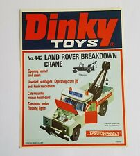 1970's Dinky Toys 442, Land Rover Breakdown Crane, - Shop Sign - Mint Condition