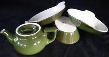 Hall China - 4pc. FOREST GREEN - 434 Baking Dish x2 - Oval Baker x1 - Tea Pot x1
