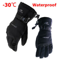 Unisex -30℃ Winter Warm Ski Gloves Brand Head Sport Gloves Waterproof Snowboard