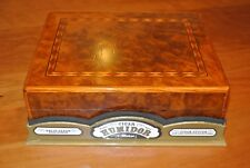 Carriage House solid cedar cigar humidor, new, with cutter