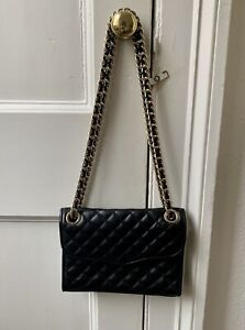 Black Quilted Chain Bag From Rebecca Minkoff