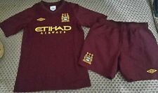 Manchester City football kit shirt+shorts size MB  Umbro