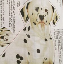 Patty Reed Dalmation dog doorstop cotton fabric panel Dachshund pillow door stop