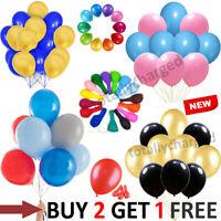 "30 X Latex 10"" inch PLAIN BALOON BALLONS helium BALLOONS Party Birthday Wedding"