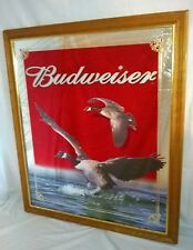 Large Budweiser Beer Canadian Geese Mirror-Rare Bar Wildlife Mirror-Nice!