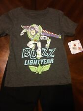 Disney Toy Story Buzz Lightyear Woody Outfit Set Jogger Pants Tee Shirt Boys 2T