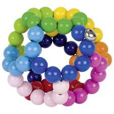 HEIMESS Elastik Regenbogenball groß Greifling Motorik Spielzeug Holz Baby NEU