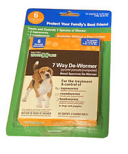 Sentry Worm X Plus 6 Chewable Tablets De-Wormer Small Dogs