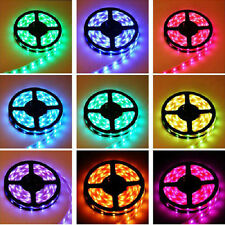 5M RGB LED Streifen Strip 5050 mit Controller Fernbedienung 5A Netzteil Trafo