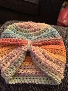 Hand Crochet  Baby Girls Turban Hat