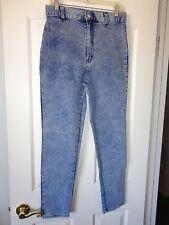 Kayo Of Calif Vtg Usa 70'S Talon Acid Wash High Waist Slim Stretchy Jeans Sz 14
