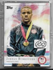(100) 2012 TOPPS OLYMPIC JORDAN BURROUGHS WRESTLING CARDS #85  HUGE LOT NEBRASKA