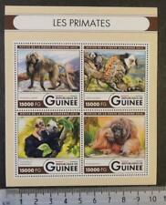 Guinea 2016 primate monkeys apes mammals m/sheet mnh