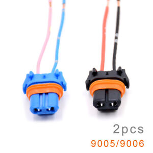 2Pcs 9005/9006/ Adapter Wiring Harness Socket for Headlight Foglights Universal