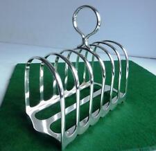 More details for vintage walker & hall silver plated toast/letter rack - hard & silver soldered