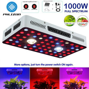 Phlizon CREE COB Serie 1000W LED Pflanzenlampe LED Grow Light Vollspektrum UV/IR