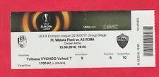 Orig.Ticket   Europa League  2016/17  VIKTORIA PLZEN - AS ROM  !!  SELTEN