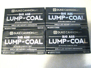 Duke Cannon Soap Big Ass Lump Of Coal *Activated Charcoal Soap* 10oz X 4 pack