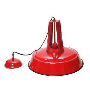 Hanging Lamp Pendant Ceiling Lamp Firetruck Red Metal Industrial Style E27